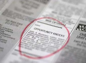 Opportunity strikes: looking for a job, looking for The One