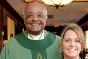 Archbishop Wilton Gregory and Lisa Duffy
