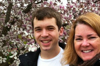 Lisa Hendey with her son, Eric: Dating advice from Mom