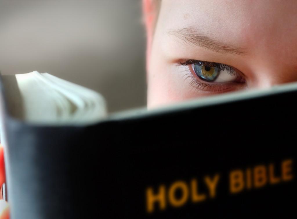 person-bible-eye