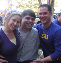 When Casey (at right) attends LSU tailgates this fall, his new better half will complete pictures like these.