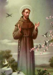 October 4 is the Feast of St. Francis of Assisi.