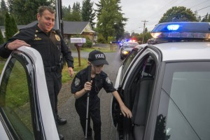 This cop gave a blind boy his chance at law enforcement.