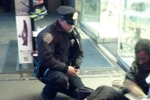 This policeman made headlines when he gifted a pair of boots to a homeless man.
