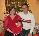 Patrick & Stephanie just celebrated Christmas with their newborn child.