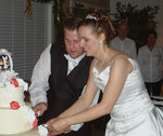 Two years after deciding God called him to be single, Edward cut the cake with Victoria.