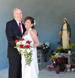 Bill & Jeanne first met at the Grotto of Our Lady by her church. They would eventually be married there.