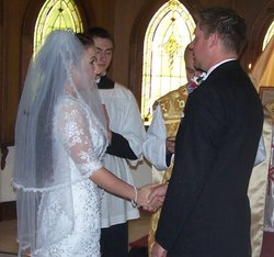 Stephen & Catherine wanted someone who shared their traditional Catholicism and they held out for each other.
