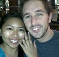 It was at the end of a long visit to the Phillipines that Joe gave Vanessa a ring.