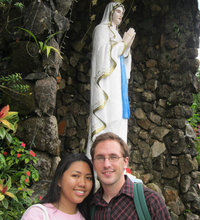 Joe's first visit to the Phillipines was marked by visits to sacred shrines and the church Vanessa grew up in.