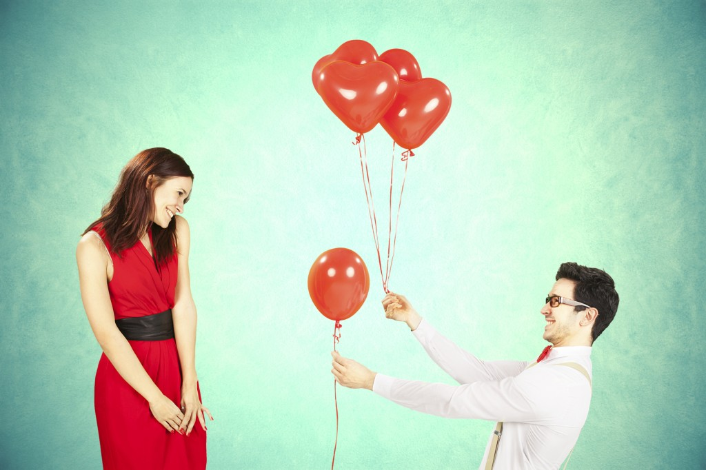 Couple-Heart ballons