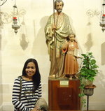"Before a statue of St. Joseph, Claudia prayed ""Is he (Peter) good for me?"""