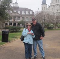 Tony and Rebecca share common interests in animals and travel, including this visit to New Orleans last February.
