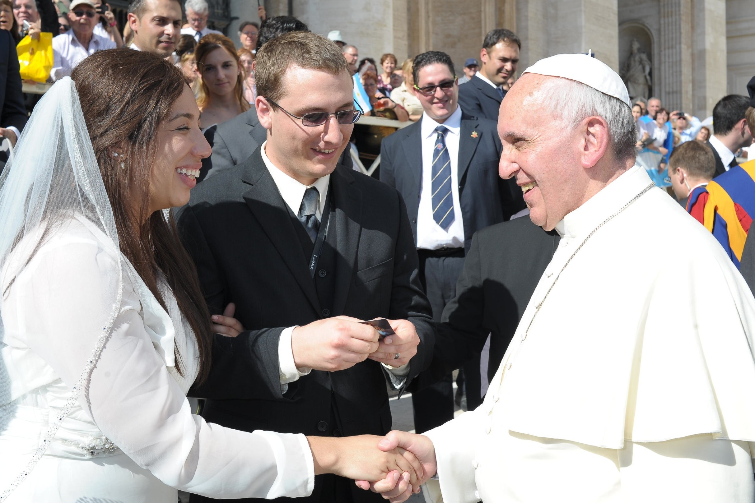 How One Couple Met, Fell in Love, and Met the Pope