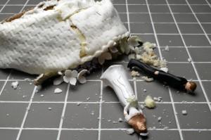 cake topper on the floor