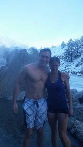 Becca & Nathanial at the hot springs