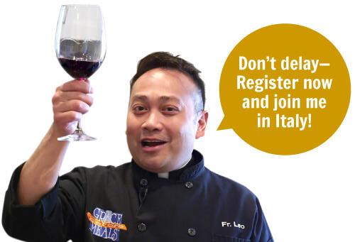 fr leo wine glass salute